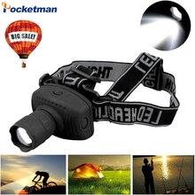 2000 lumens led farol poderosa lanterna frontal zoomable farol tocha luz para bicicleta para acampamento caça pesca