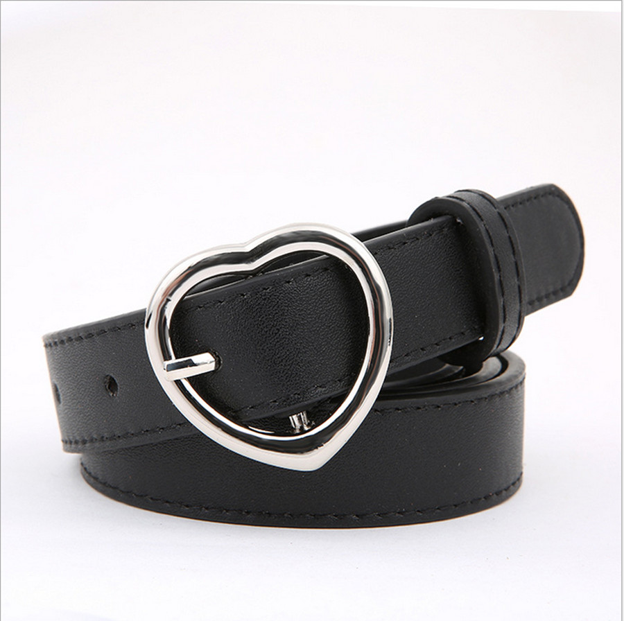 2020 New Heart-shaped Buckle Women's Student Belt Fashion Wild Casual With Jeans Dress