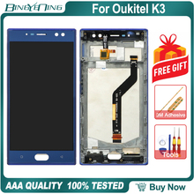 """BingYeNing 5.5"""" For Oukitel K3 LCD&Touch screen Digitizer with frame display Screen phone accessories assembly replacement tools"""
