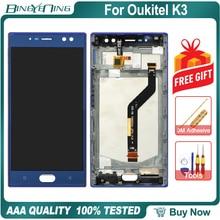"""BingYeNing 5.5 """"Oukitel K3 LCD ve dokunmatik ekran Digitizer çerçeve ile ekran telefon aksesuarları montaj değiştirme araçları"""