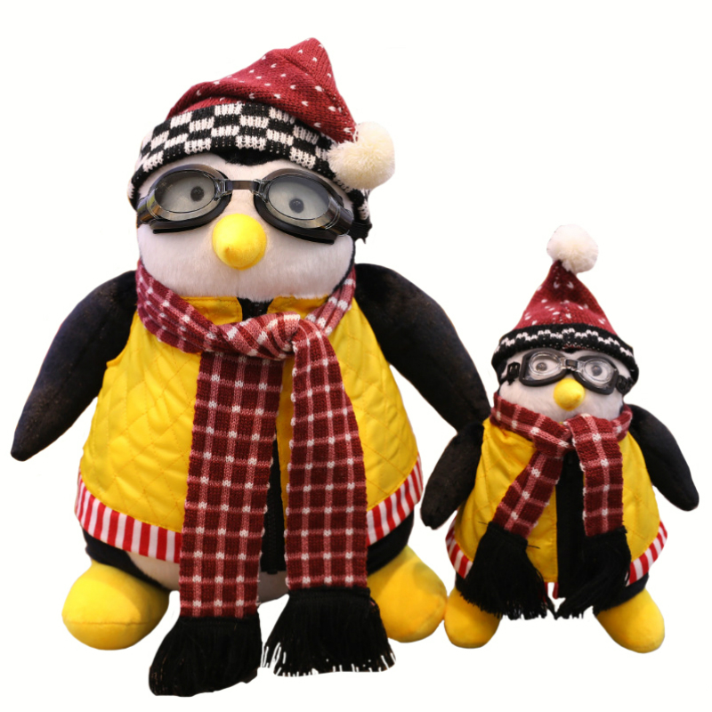 25cm 45cm Friends Around Penguin Plush Toy Friends Sixsome Doll Hugsy Haji Penguin Plush Toy for gifts