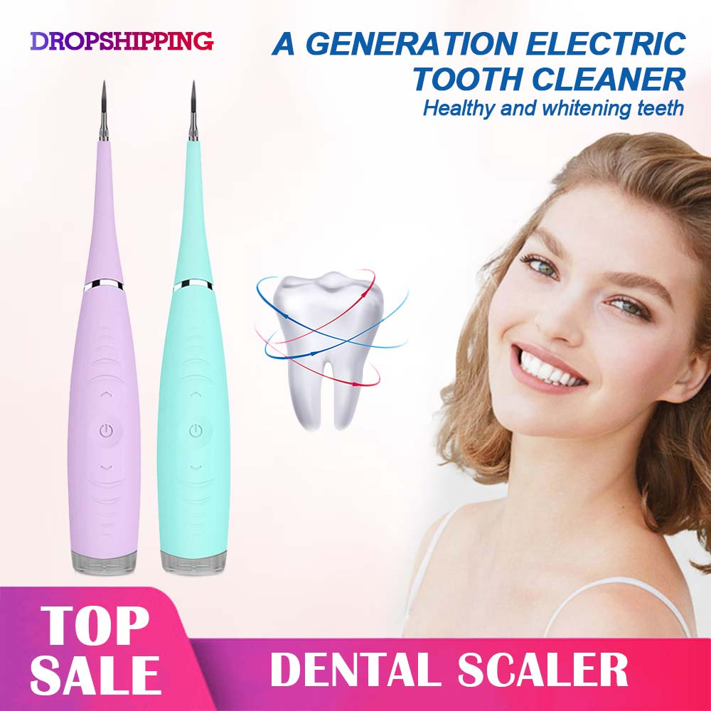 Electric Ultrasonic Sonic Dental Scaler Tooth Calculus Remover Cleaner Tooth Stains Tartar Tool Whiten Teeth Tartar Remove(China)