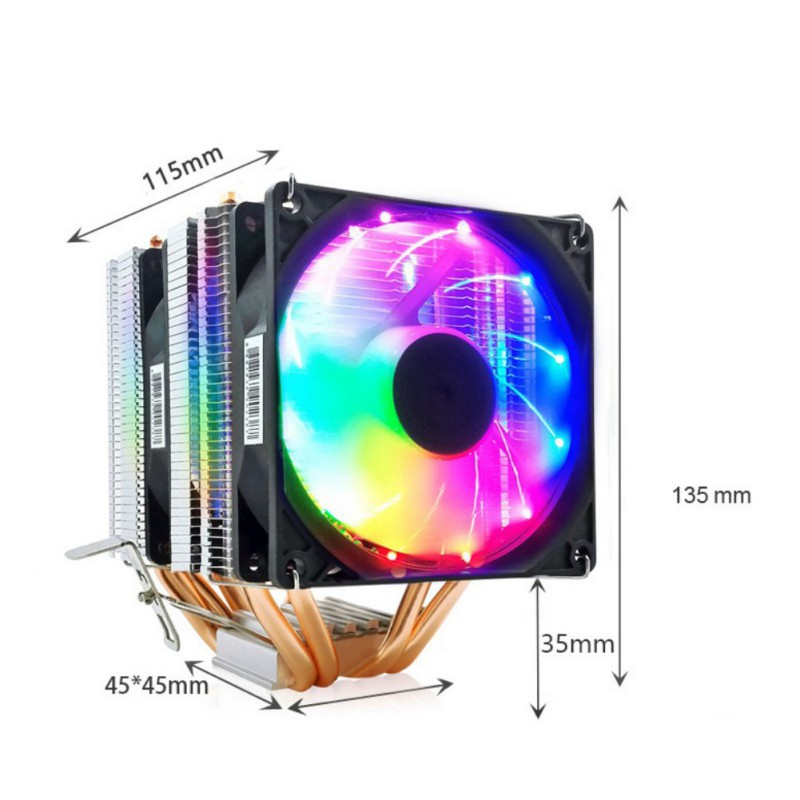 High Quality Gaming Computer 3 PIN CPU Cooler Fan Heatsink For Intel And For AMD image