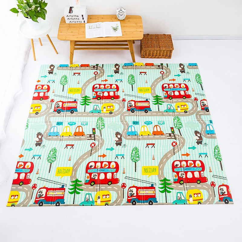 Baby Play Mat Waterproof XPE Soft Floor Playmat Foldable Crawling Carpet Kid Game Activity Rug Folding Blanket Educational Toys