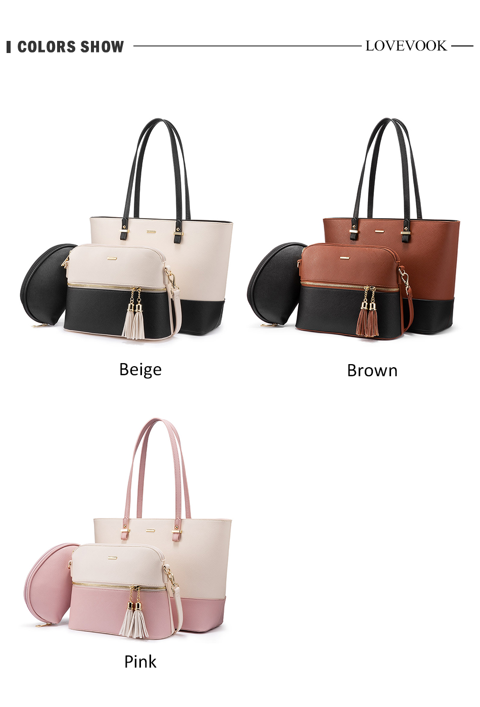 H86eadc527aea42f680fb755e4886ed99a - women shoulder bags crossbody bags for ladies large tote bag set 3 pcs clutch and purse luxury handbag women