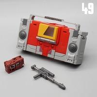 Mini MFT MF-49 – enregistreur de Transformation modèle ABS, bande ondulée sonore, Walkman Pocket War, figurine d'action, jouet Robot, 12cm