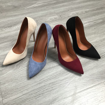 12cm Heel Womens Pumps Suede Super High Heels Fetish Fashion Woman Pointed Toe Spike Heels Blue Black Beige Burgundy Shoes 2020