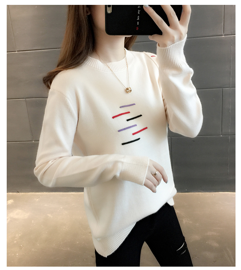 Sweaters women's 19 new fashion Korean loose autumn winter knitting bottoms wear Western clothes 12