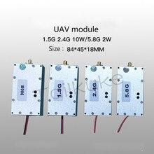 الطائرات بدون طيار وحدة التدخل واي فاي الطائرات بدون طيار التشويش إفيسر 1.5G 2.4G 10W 5.8G 2W