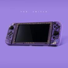 MONCON-funda colorida con temática de juego de fuego para Nintendo Switch, carcasa bonita para juegos de fuego púrpura