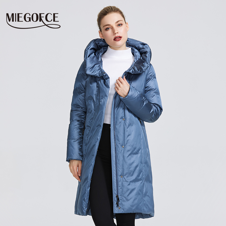 MIEGOFCE 2019 Winter Jacket Women's Collection Warm Coat With Unusual Design and Colors Parka Gives Charm and Elegance Suitable