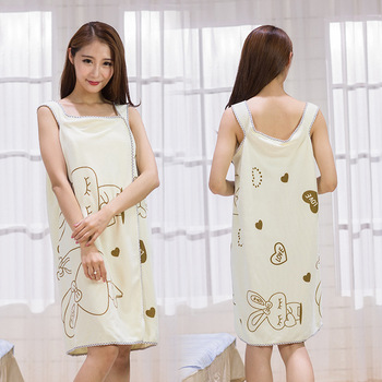 10pcs Lovely Printed Underwear Dress Can Wear Sling Bath Dress Bath Towel Anti Light Beauty Salon Dress Summer Bath Towel Skirt
