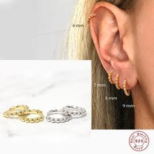 Aide Aros De Plata De Ley 925 pendientes De hebilla De hueso del oído para Mujer y hombre, aretes De aro Minimalis, regalo De San Valentín