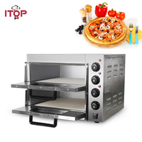 ITOP 20L Double Layer Pizza Oven Stainless Steel Chicken Duck Cake Bread Baking Oven Convection Oven EU/UK Plug