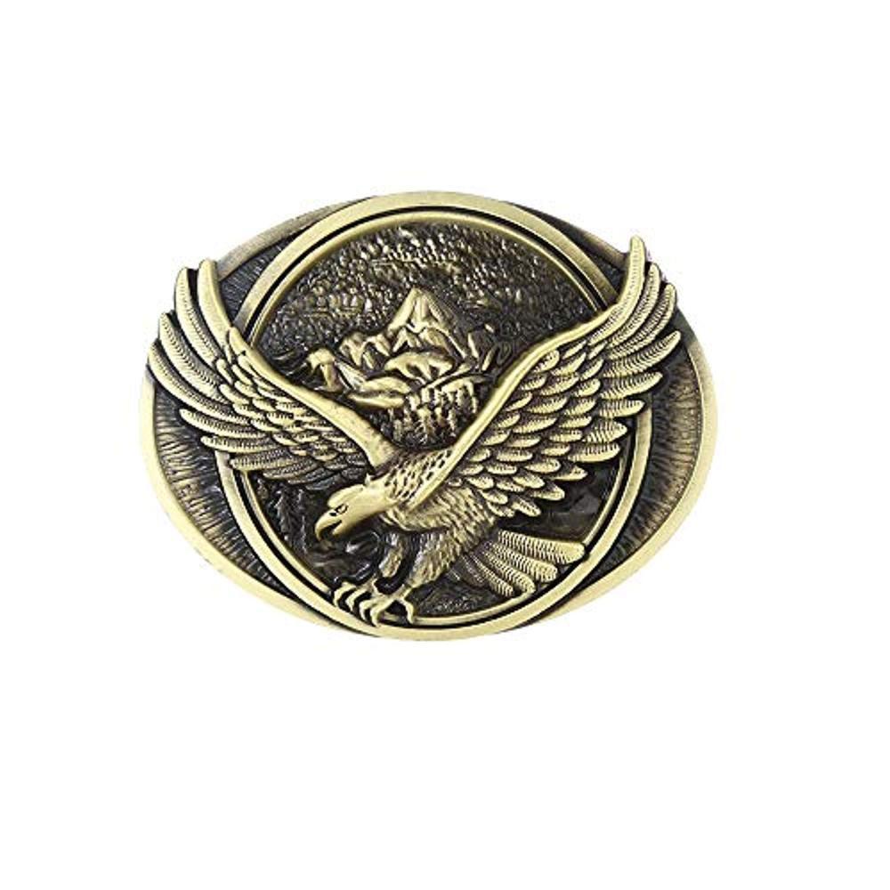 Eagle Copper Color Belt Buckle For Man Western Cowboy Buckle Without Belt Custom Alloy Width 4cm