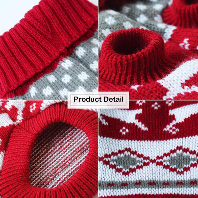 크리스마스 고양이 개 스웨터 풀오버 작은 개를위한 겨울 개 옷 치와와 yorkies 강아지 자켓 애완 동물 의류 ubranka dla psa