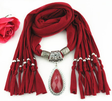 tassel polyester scarf Meiling Palaces most beautiful necklace drop pendant Jewelry