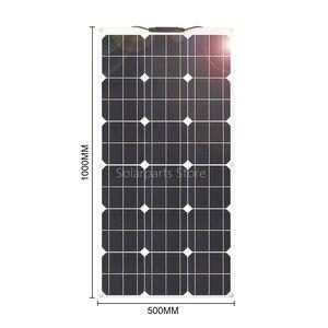 Image 3 - גמיש פנל סולארי ערכת 300W 400W 24v 12 V סלולרי מודול paneles solares עבור חניך קרוון סירה רכב סוללה טעינת אנרגיה
