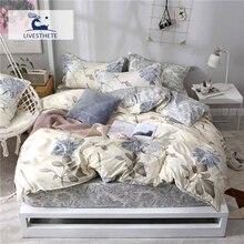 Liv-Esthete Elegant Pastoral Flower Bedding Set Soft Duvet Cover Pillowcase Bed Linen Bedspread Flat Sheet Or Fitted