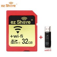 Ez-lector de tarjetas de memoria 100% capacidad Real, Wifi, Sd, 32G, 64G, 2019G, C10, para cámara, Envío Gratis, novedad de 128