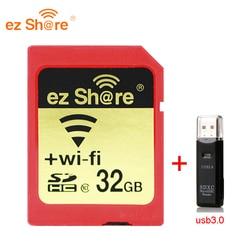 2019 جديد 100% الأصلي القدرة الحقيقية Ez حصة واي فاي Sd بطاقة قارئ بطاقات الذاكرة 32G 64G 128G C10 للكاميرا شحن مجاني