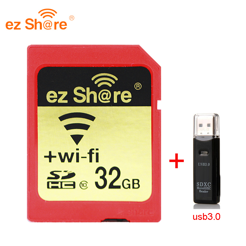 2019 New 100% Original Real Capacity Ez Share Wifi Sd Card Memory Card Reader 32G 64G 128G C10 For Camera Free Shipping