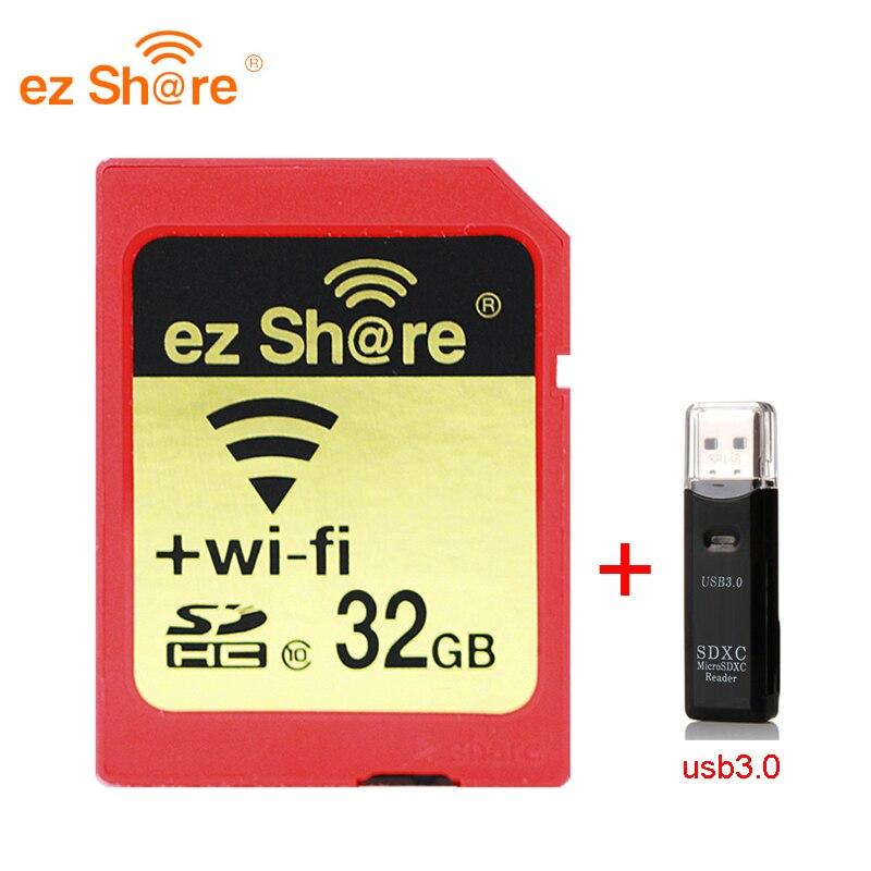 2019 Nova 100% original Real Capacidade Ez Compartilhar Wifi Cartão Sd leitor de Cartão de Memória 64 32G G 128G c10 para Câmera frete Grátis