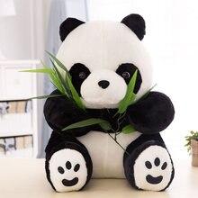 Мягкие куклы в виде милой панды бамбуковые листья подушка плюшевые