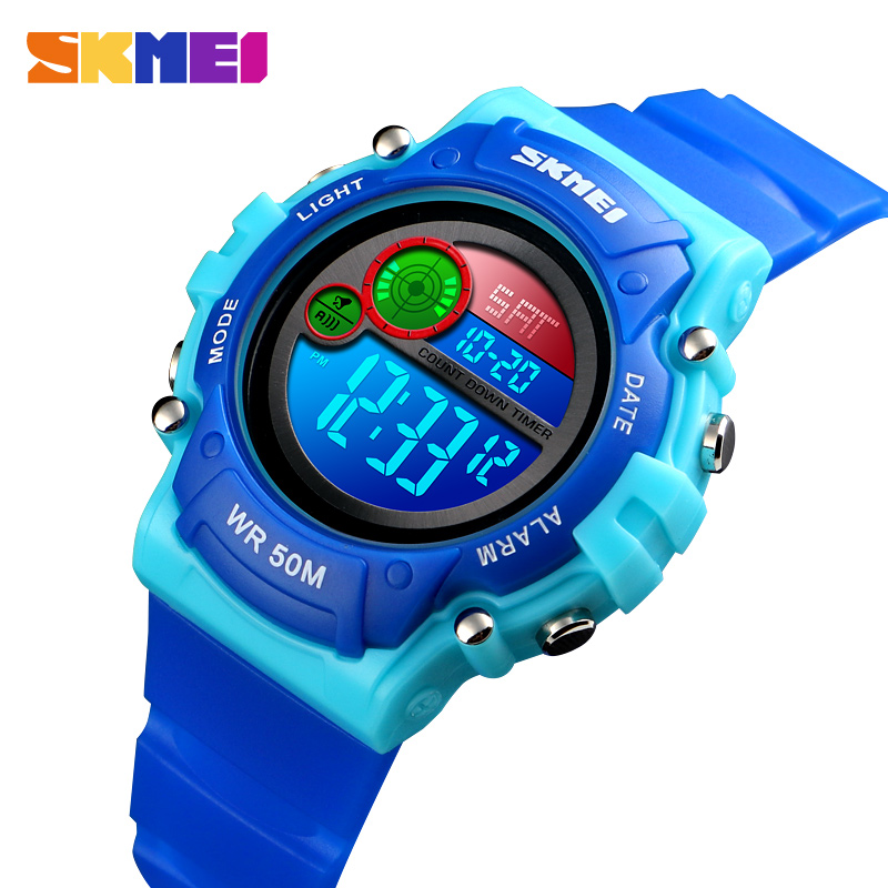 SKMEI 5Bar Waterproof Children Watch Luminous Stopwatch Sports Watches Kids Wristwatches For Boys Girls Reloj Infantil Digital