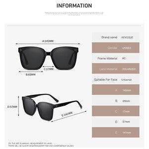 Image 4 - AEVOGUE Neue Frauen Mode Polarisierte Sonnenbrille Transparent Platz Retro Outdoor Sonnenbrille Vintage Oculos Unisex UV400 AE0849