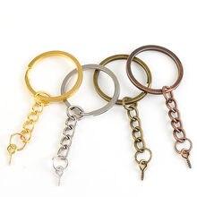 20 adet/grup vida göz Pin anahtarlık anahtarlık anahtarlık bronz rodyum altın anahtarlıklar bölünmüş yüzükler vidalı Pin takı yapma