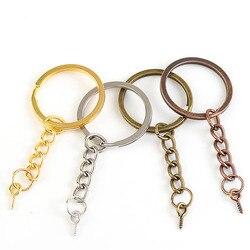 Porte-clés en épingle à vis, lot de 20 pièces, Bronze Rhodium, or fendu, fabrication de bijoux