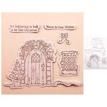 Metal Cutting Dies and Stamps Christmas Door Window Scrapbooking Craft Die Cut Stencil Card Making Photo Album Sheet Paper New