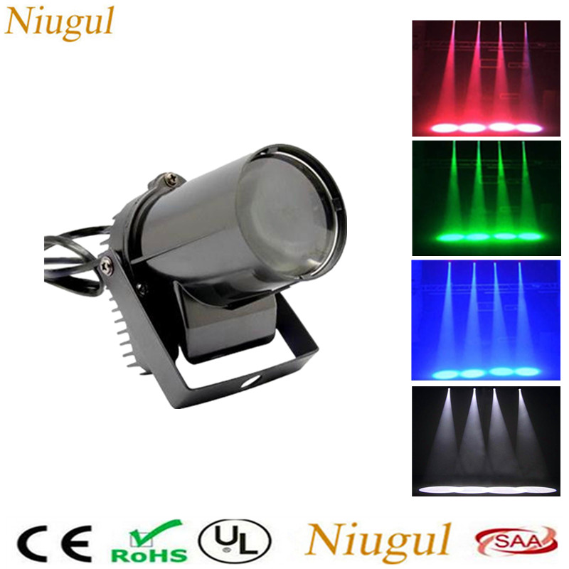 Mini LED Spotlights Beam Effect Stage Lighting 3W LED Spot Light  Disco Glass Ball Reflection Lamp Home Party Show DJ Spot Light