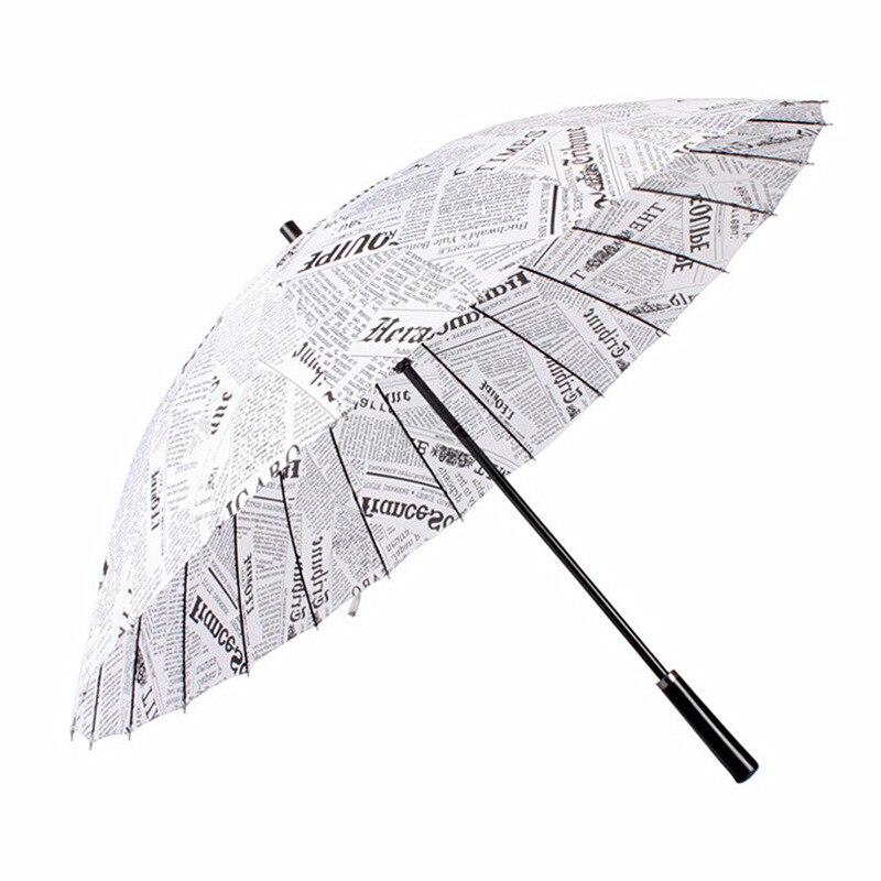 Bao Zhi San A Generation Of Fat Wholesale Creative 24 Bone Straight Pole Ultra Large Long Handle All-Weather Umbrella Currently