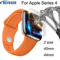 Explosion-proof membrane For Apple Watch for iwatch Series 4 44 40MM Full Coverage Glass Screen Protective film For Apple Watch