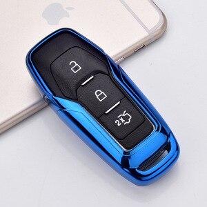 Image 5 - TPU רכב חכם מרחוק מפתח קייס רכב מגן מפתח עור מעטפת כיסוי עבור פורד קצה מונדיאו מוסטנג עבור פורד מפתחות keychain