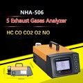 NHA-506 Automobile Five Exhaust Gas HC CO CO2 O2 NO 5 Type Car Truck Bus Exhaust Gas Calibration Tester