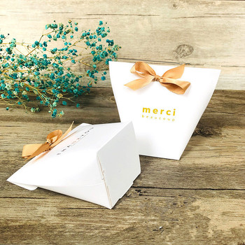 10pcs Favor Candy Gift Bag Kraft Paper Dragee Gift Box Wedding Favor Gift Boxes Pie Party Box Bags Eco Friendly Kraft Wrapping image