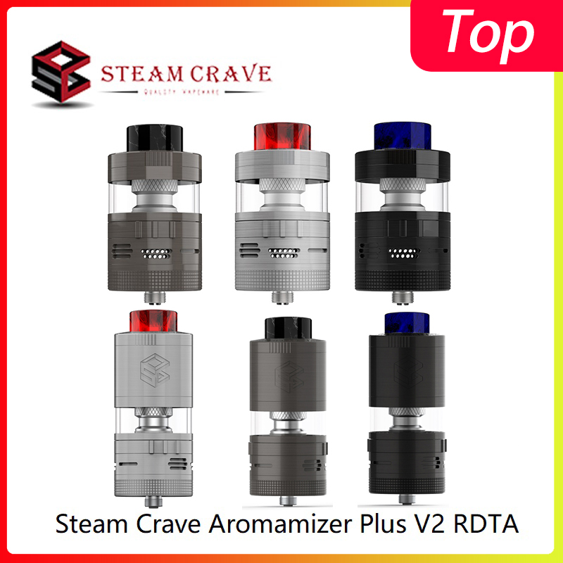 Original Steam Crave Aromamizer Plus V2 RDTA Basic/Advanced Kit 8.0ml/16.0ml Top Filling Atomizer With 810 Drop Tip Vape Tank