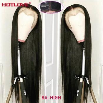 Бразильские прямые волосы, фронтальная часть, человеческие волосы 13x1, натуральный цвет, кружевные передние парики для чернокожих женщин, 150%...