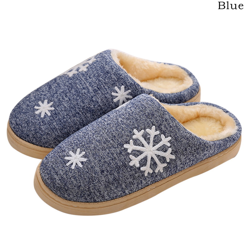 Fleece Slippers Shoes Home New Small Fresh Cotton No with Couple Warm-Month-Bag
