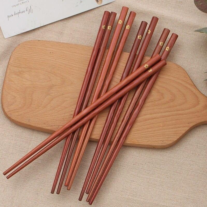 20 пар палочек для еды многоразовые деревянные бамбуковые китайские