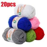 Hilo 20 piezas de punto de algodón para tejer, antiestático, barato, precio de fábrica