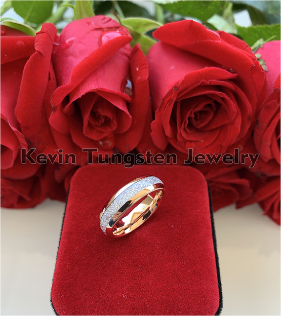 Женский и мужской вольфрамовый браслет из розового золота 6