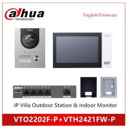 Dahua VTO2202F-P VTH2421FW-P IP Villa Station extérieure moniteur intérieur Kit IP support de sonnette POE vidéo sonnette accessoire