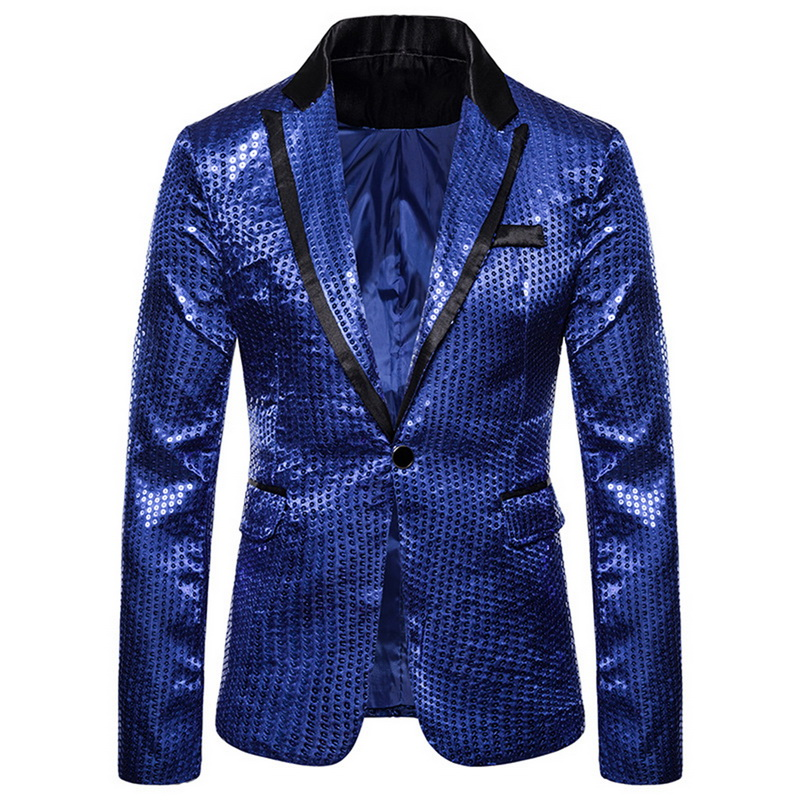 MoneRffi Fashion Shiny Men Blazer Sequin Design Luxury Mens Suit Jackets Slim Party Terno Masculino DJ Stage Blazers Jacket