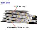 Гибсветильник светодиодная ленсветильник SMD 5050, 5 м, 12 В, 24 В, RGBW, RGBWW, RGB, CCT, 60 светодиодов/м, RGB + (белый/теплый белый)