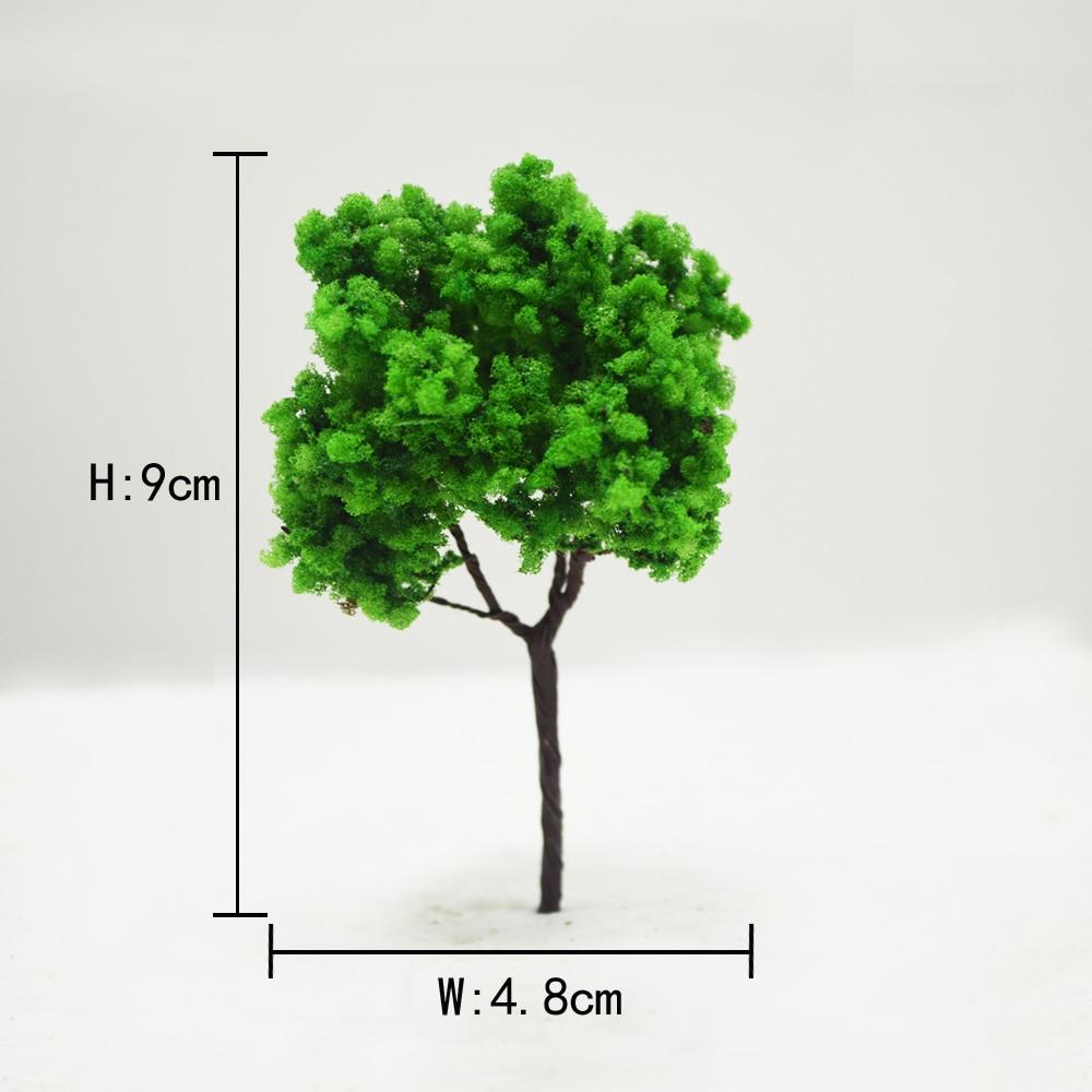 Teraysun 50pcs sand table model building kits ho scale tree miniature wire 9cm