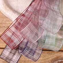 100yards 25mm 38mm gingham tartan plaid ribbon for hair bow diy accessories bouquet flower packing craft supplies